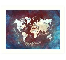 world map 19 Art Print