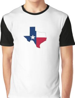TEXAS, TEXAS FLAG, STATE OUTLINE, America, American, USA, US Graphic T-Shirt
