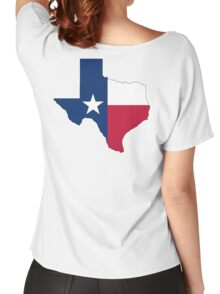 TEXAS, TEXAS FLAG, STATE OUTLINE, America, American, USA, US Women's Relaxed Fit T-Shirt