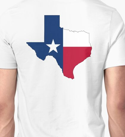 TEXAS, TEXAS FLAG, STATE OUTLINE, America, American, USA, US Unisex T-Shirt