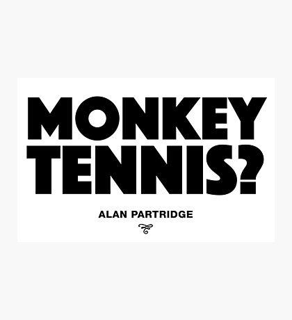Alan Partridge - Monkey Tennis Photographic Print