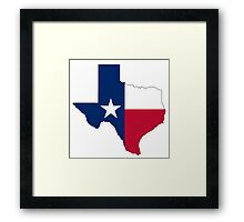 TEXAS, TEXAS FLAG, STATE OUTLINE, America, American, USA, US Framed Print