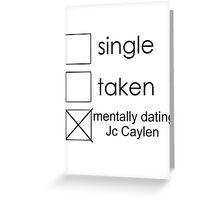 single Jc Greeting Card
