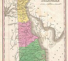 Vintage Map of Delaware (1827) by BravuraMedia