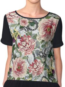 Snakes And Flowers Chiffon Top