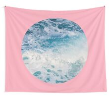Ocean + Pink #redbubble #trending #lifestyle #decor #buyart Wall Tapestry