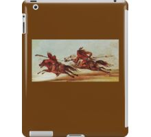 War on the plains. Indian Warriors, Comanche, Osage, warrior. Painting, George Catlin, 1834 iPad Case/Skin