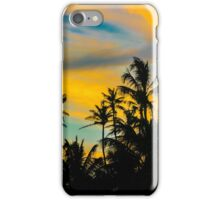 Tropical Scene at Sunset Time iPhone Case/Skin