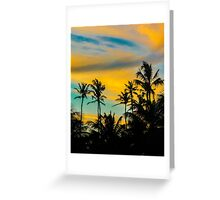 Tropical Scene at Sunset Time Greeting Card