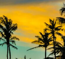 Tropical Scene at Sunset Time Sticker
