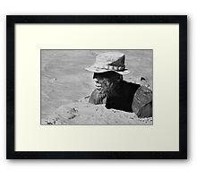Survival Training in B&W Tones Framed Print
