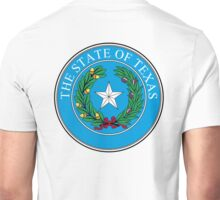 Seal of Texas, State of Texas, America, American, USA, US Unisex T-Shirt