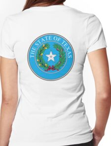 Seal of Texas, State of Texas, America, American, USA, US Womens Fitted T-Shirt