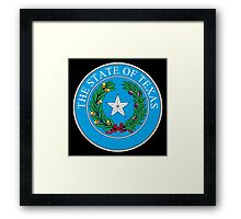 Seal of Texas, State of Texas, America, American, USA, US Framed Print