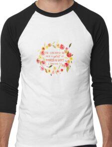 2 Timothy 1:7 Men's Baseball ¾ T-Shirt