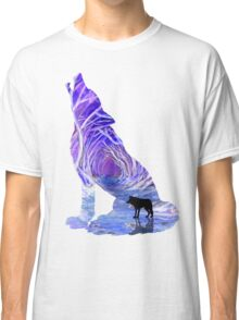 Wild Forest Wolf - Purple Classic T-Shirt