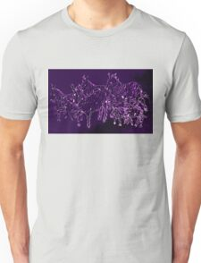 Funky Purple Zebra Herd Unisex T-Shirt