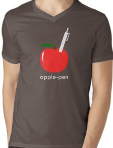 Apple Pen Mens V-Neck T-Shirt