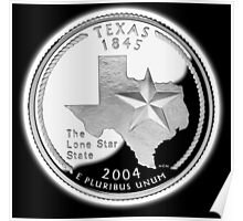 Texas, quarter, dollar, coin, 1845, 2004, State of Texas, American, America, USA, US Poster