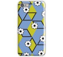 Cubes and Flowers iPhone Case/Skin