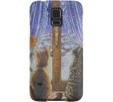 Cat Art - Cats Watching the Snow Fall Samsung Galaxy Case/Skin