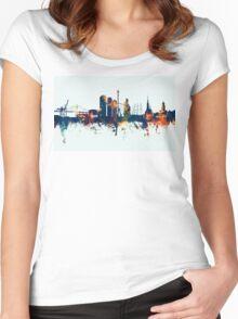 Gothenburg Sweden Skyline Women's Fitted Scoop T-Shirt