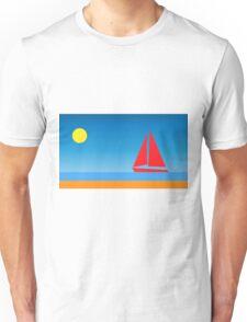 Sunset Sailboat Unisex T-Shirt