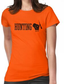 Hunting Wis-Kid Womens Fitted T-Shirt