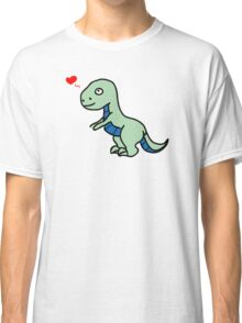 Cartoon comic dino dinosaur green Classic T-Shirt