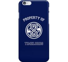 Property Of Timelords (Doctor Who) iPhone Case/Skin