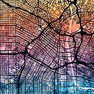 Los Angeles City Street Map by Michael Tompsett