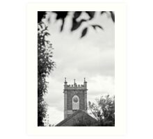 Clock Tower—St Johns Church, Newtown Tasmania Art Print