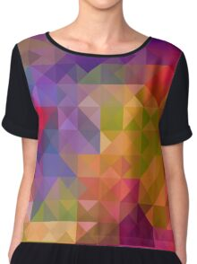 Bright Colorful Geometric Abstract Chiffon Top