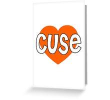cuse heart Greeting Card