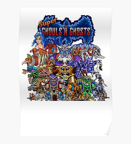 Super Ghost N Ghouls Retro Life Poster