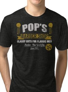 Pop's barber shop Tri-blend T-Shirt