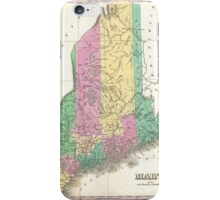 Vintage Map of Maine (1827)  iPhone Case/Skin