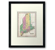 Vintage Map of Maine (1827)  Framed Print