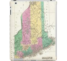 Vintage Map of Maine (1827)  iPad Case/Skin