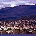 Rosny Hill—View to Hobart & Mt Wellington by Brett Rogers