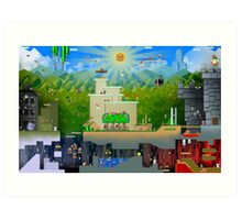 Super Mario World Background Art Print