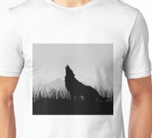 Wolf in mountains Unisex T-Shirt