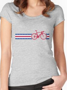 Bike Stripes USA Women's Fitted Scoop T-Shirt