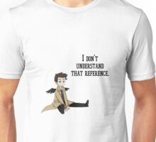"""I don't understand that reference"" Castiel Chibi Print Unisex T-Shirt"