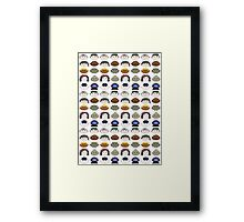 SG1 pattern Framed Print