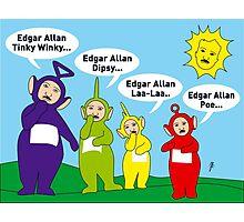 Teletubbies Edgar Allan Poe Card Photographic Print