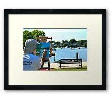Painting Water Framed Print
