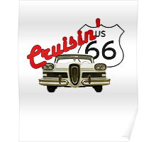 Cruisin' the Mother Road - US Route 66 Poster