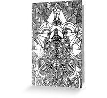ancient futurism Greeting Card