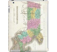 Vintage Map of Massachusetts (1827) iPad Case/Skin